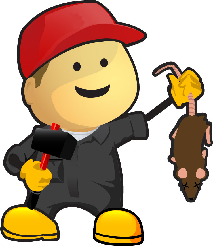 Icon of a pest control worker.